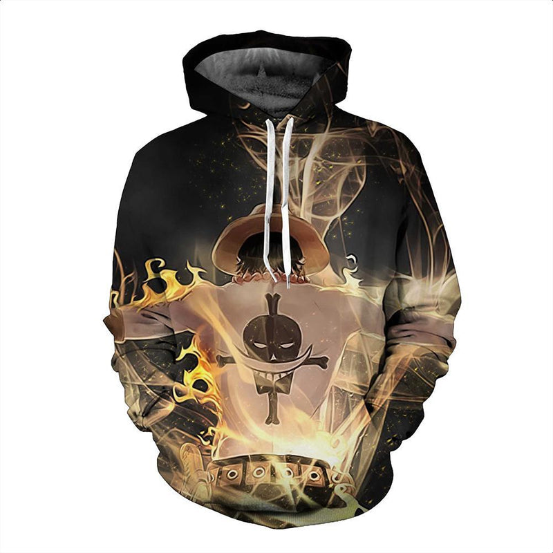 One Piece Hoodie - Portgas D Ace Pullover Hoodie CSSO019