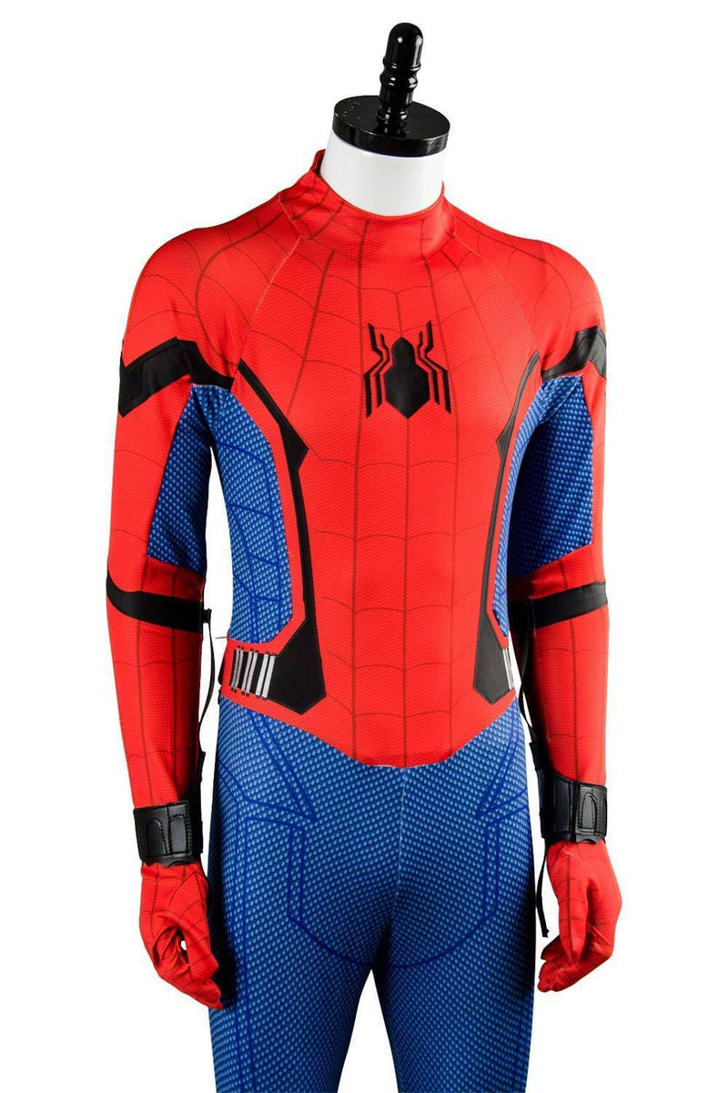 Movie SpiderMan Homecoming Spider man Jumpsuit Cosplay Costume
