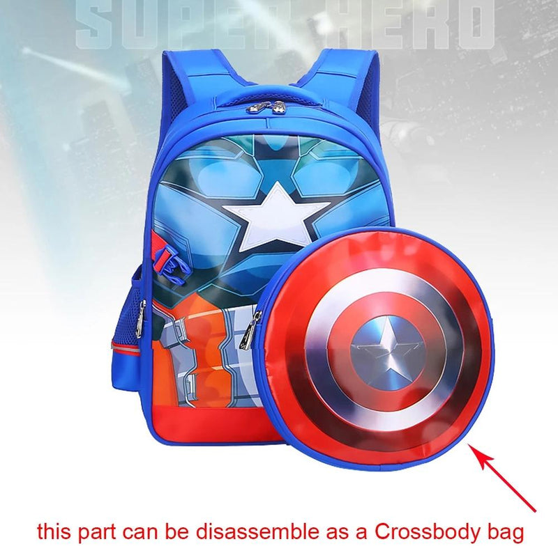 Avengers: Endgame Cosplay Captain America Backpack Bags Steve Rogers Spiderman Students Decompression Bag Kids Superhero Cosplay