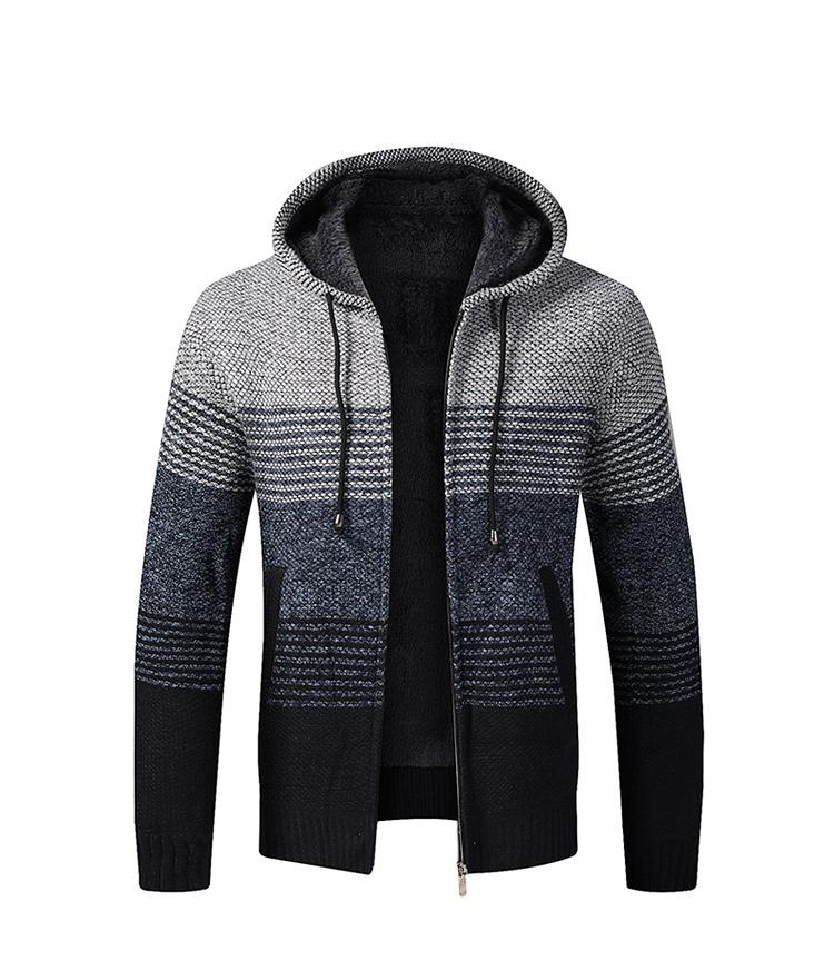 Autumn Winter New Thick Sweater Coat Man Hooded
