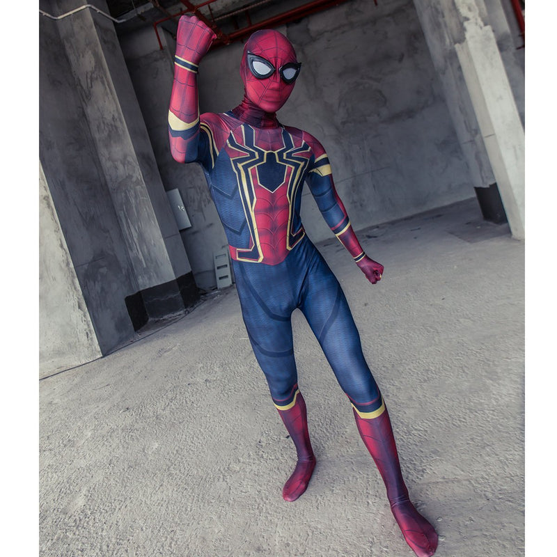 2018 Avengers Infinity War Spider-Man Kids Jumpsuit Cosplay Costume