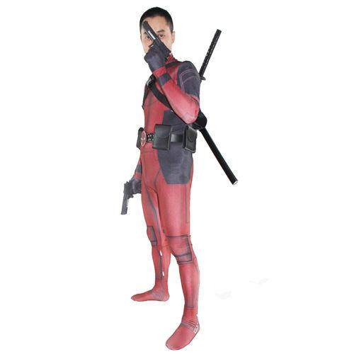 Adult  Deadpool Cosplay Jumpsuit Spandex Zentai Suit