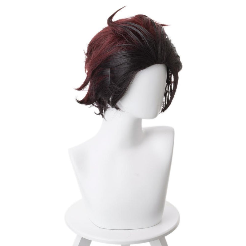 Demon Slayer Kamado Tanjirou Outfit Cosplay Wig