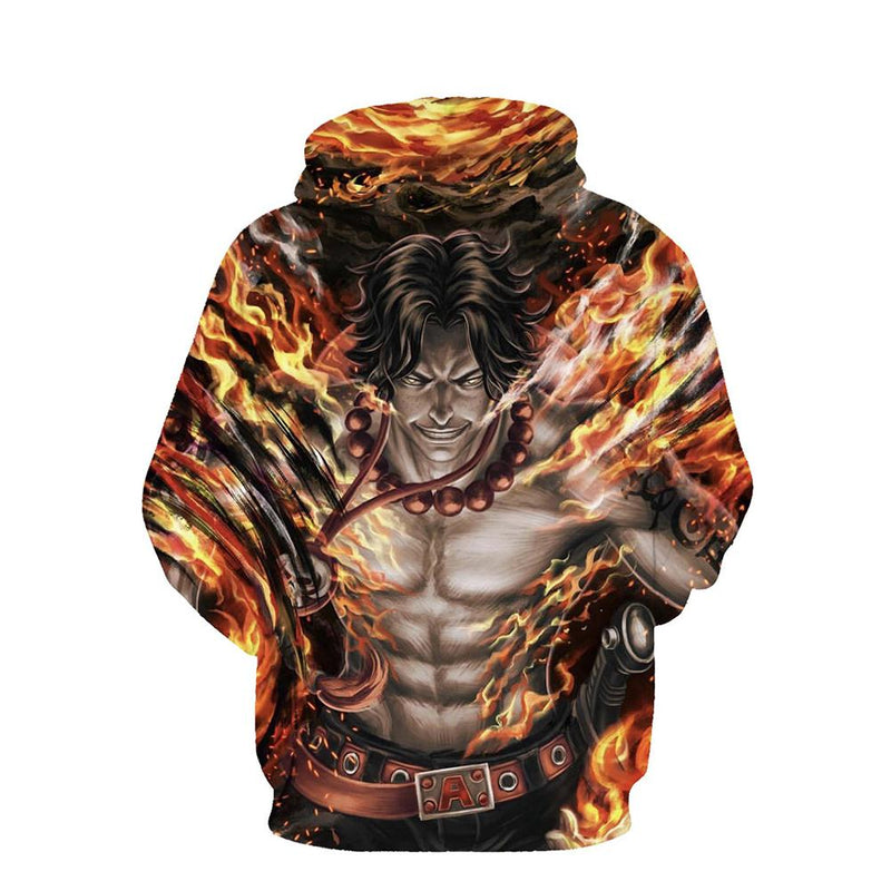 One Piece Hoodie - Portgas D Ace Pullover Hoodie CSSO020
