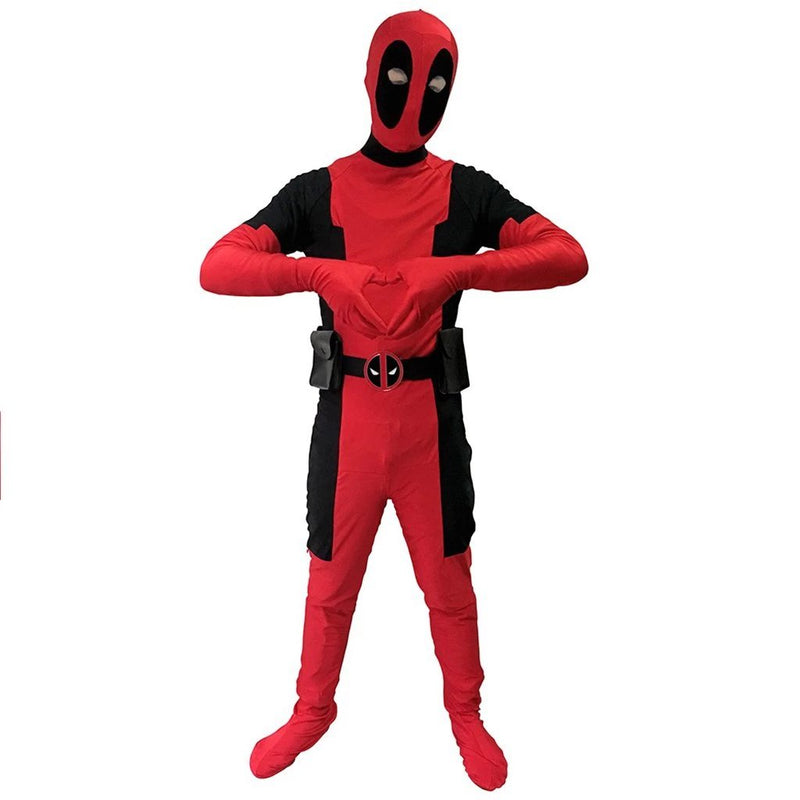 Adult / Kids Deadpool Cosplay Costume Jumpsuit Spandex Zentai Suit Superhero