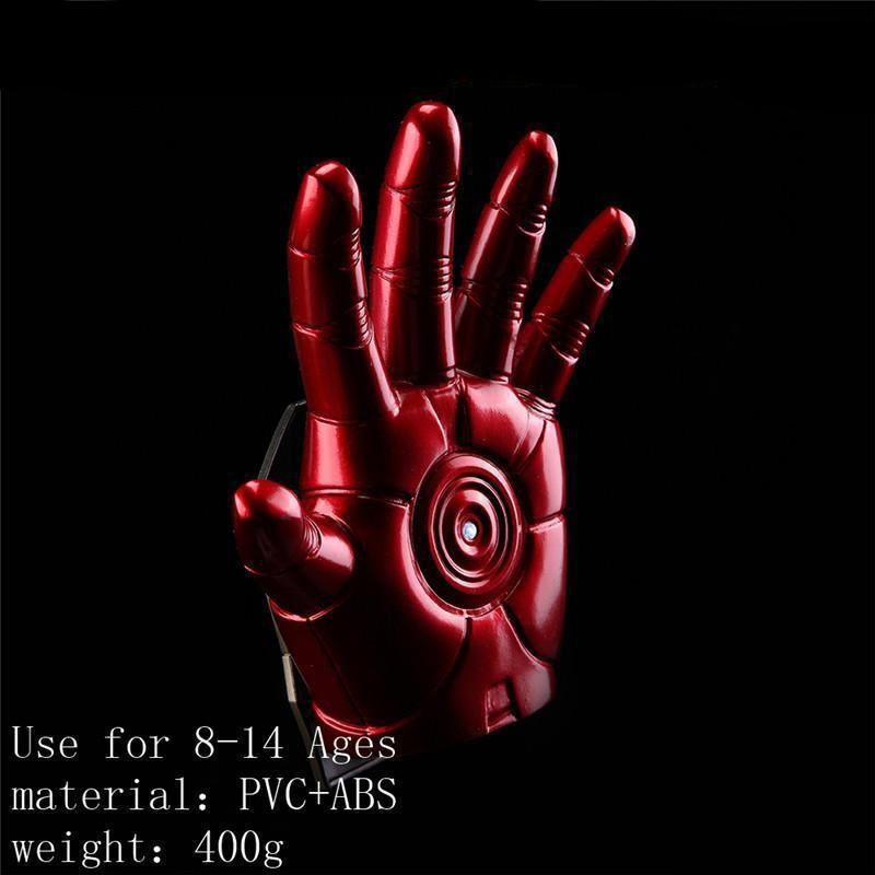 Avengers Iron Man Gloves With LED Light PVC Figure Collectible Model Toy