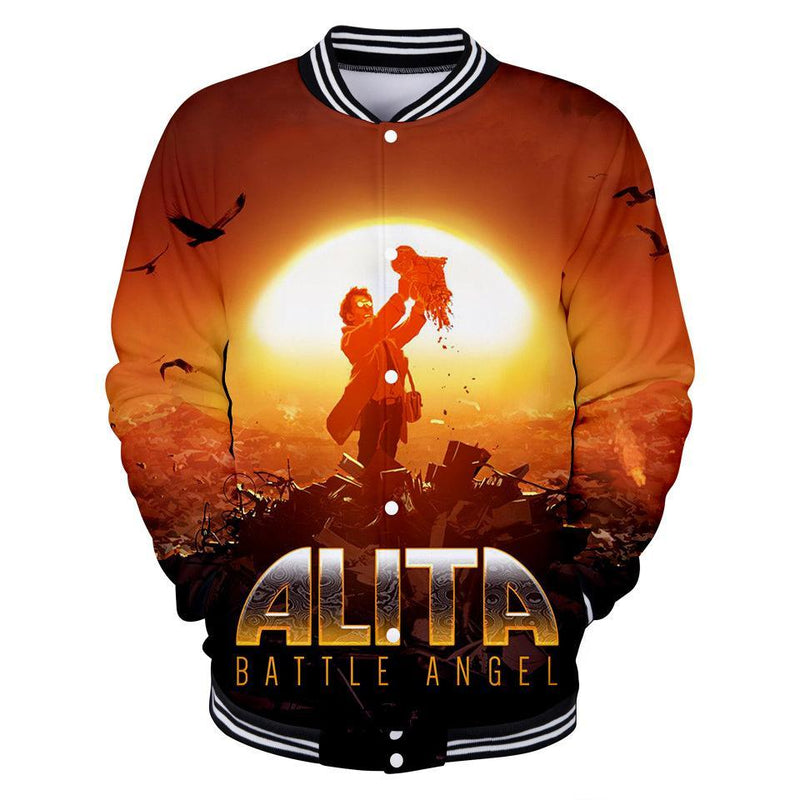Alita Jacket - Battle Angel Baseball Jacket CSOS963