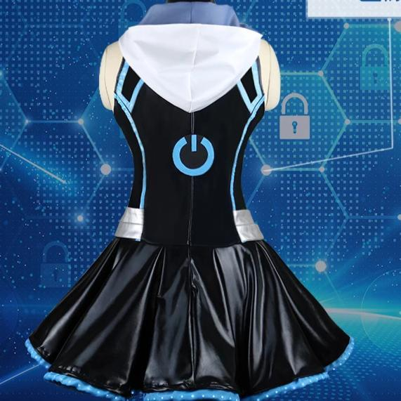 Angela Costume Game Sexy Black Dress For Girls