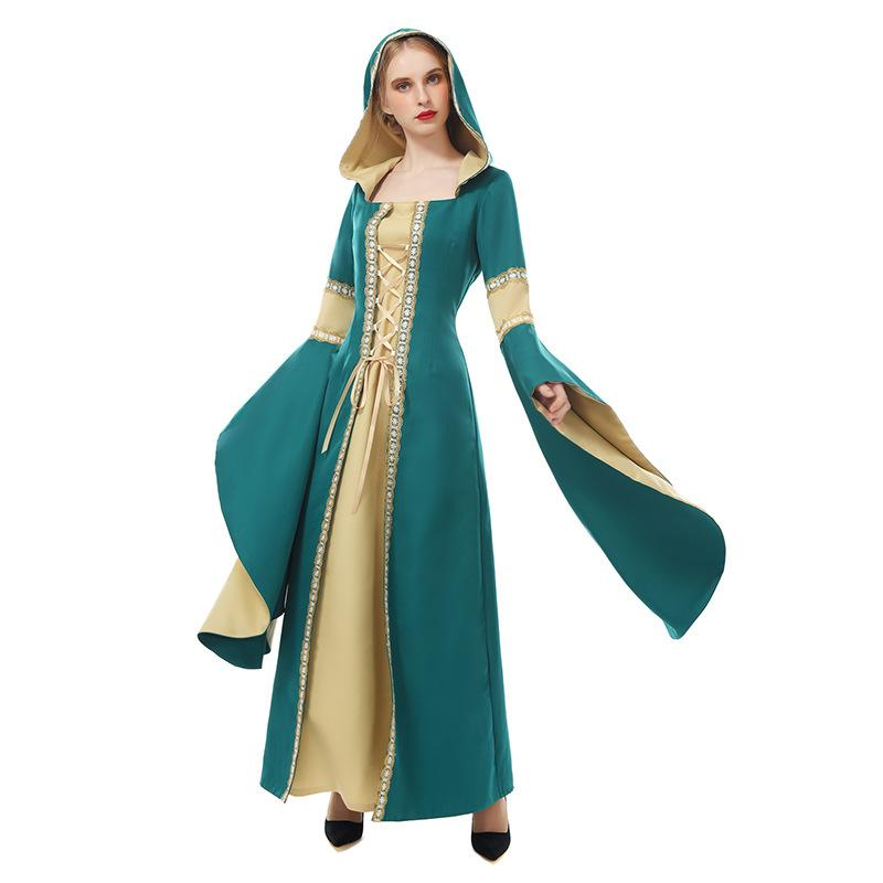 Women Halloween Princess Dress Costume European Court Dress