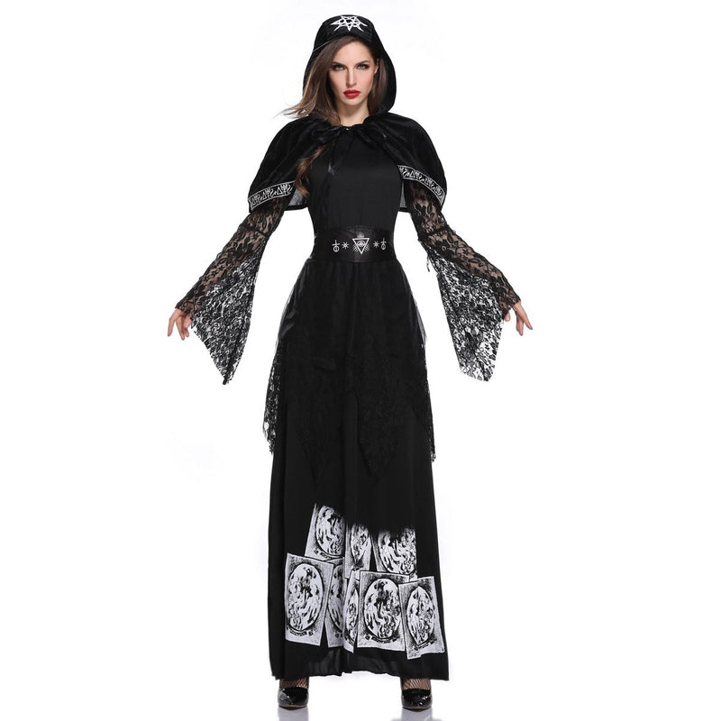 Adult Taro Cosplay Witch Long Skirt Stage Performance Costume