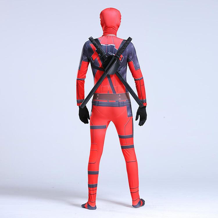 Deadpool Death Servant Cosplay Tights Halloween Costume Jumpsuit