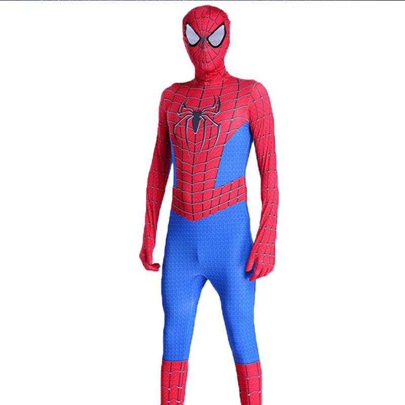 Amazing Spiderman Jumpsuit Cosplay Children Tights Halloween Costume