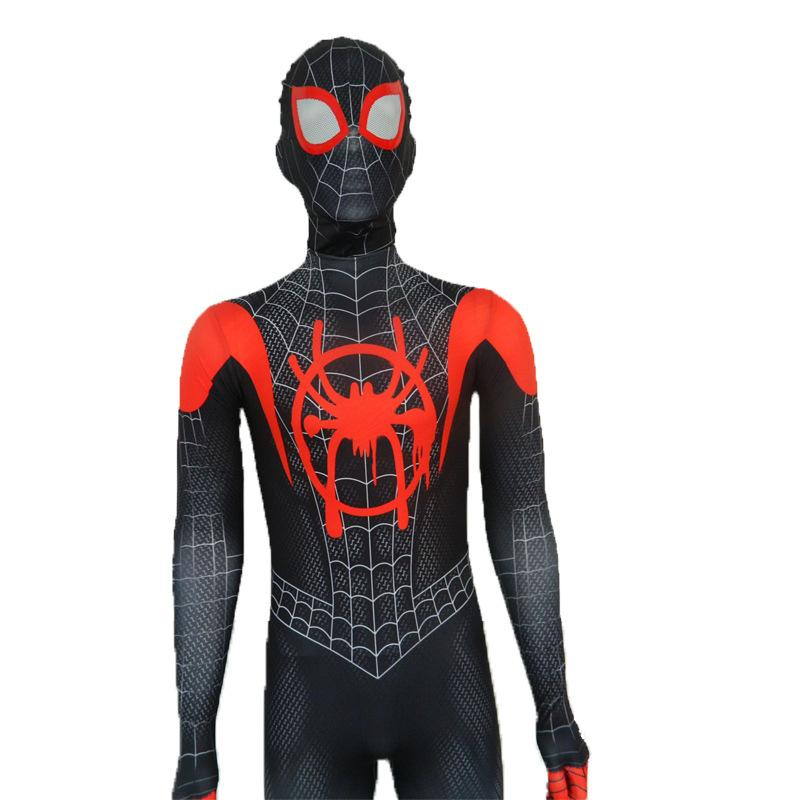 Spiderman Jumpsuit costume Black Spider Cosplay for boys Halloween
