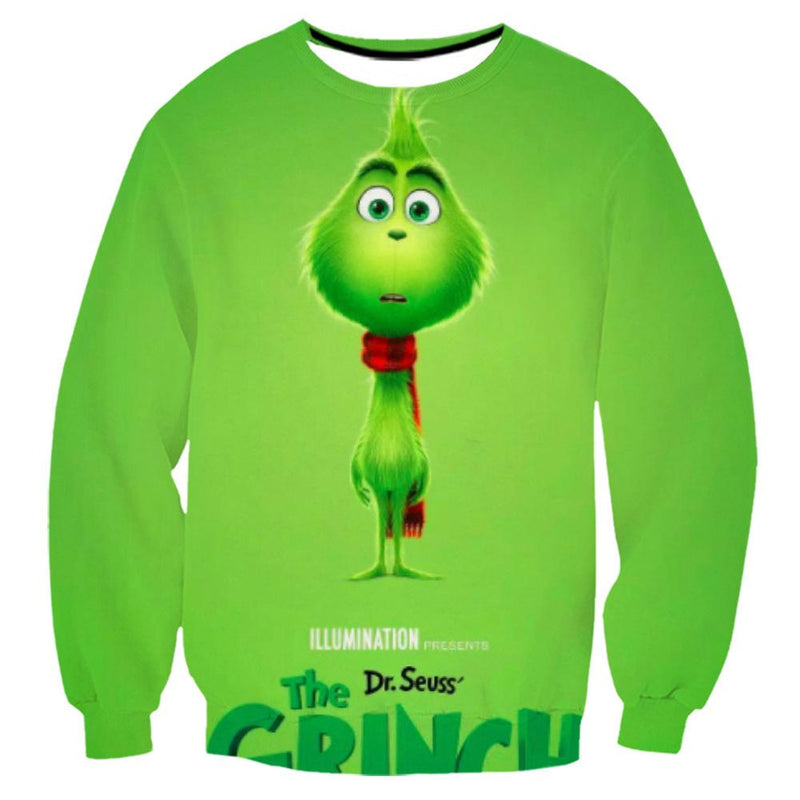 Grinch Sweatshirt - The Grinch Pullover Sweater CSSG007