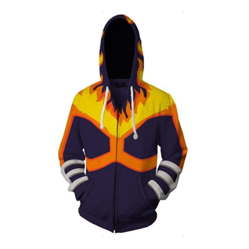 My Hero Academia Anime Cosplay Costume Sweatshirt Zip Up Hoodie CSP127
