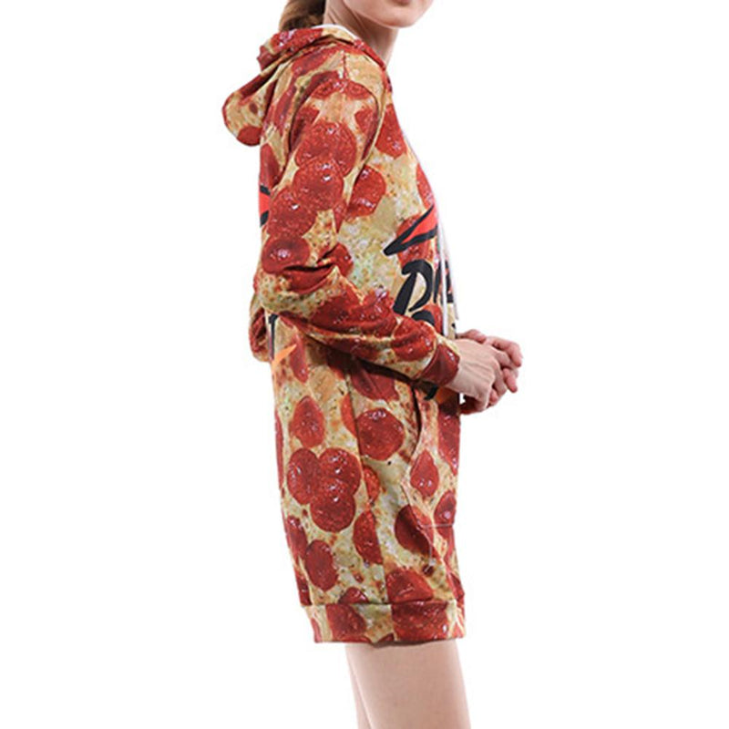 Pizza Hoodie Dress