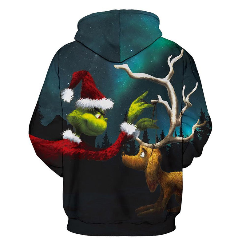 Grinch Hoodie - The Grinch Pullover Hooded Sweatshirt CSSG013