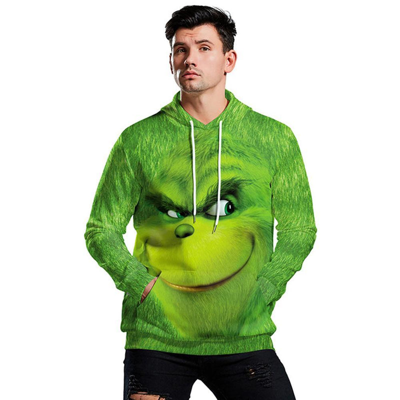 Grinch Hoodie - The Grinch Pullover Hooded Sweatshirt CSSG014