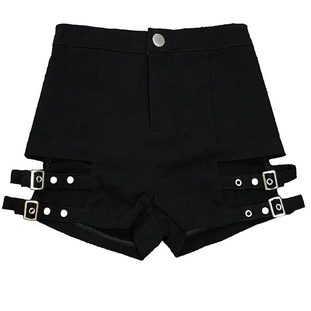 Double Strap Slim Shorts SD00448