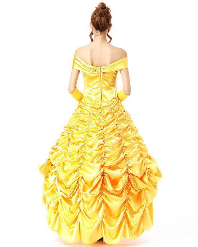 Belle Princess Ball Gown Beauty And The Beast Deluxe Halloween Costume