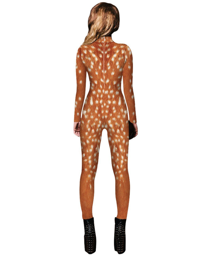 Adult Brown Lion Catsuit Womens Costume