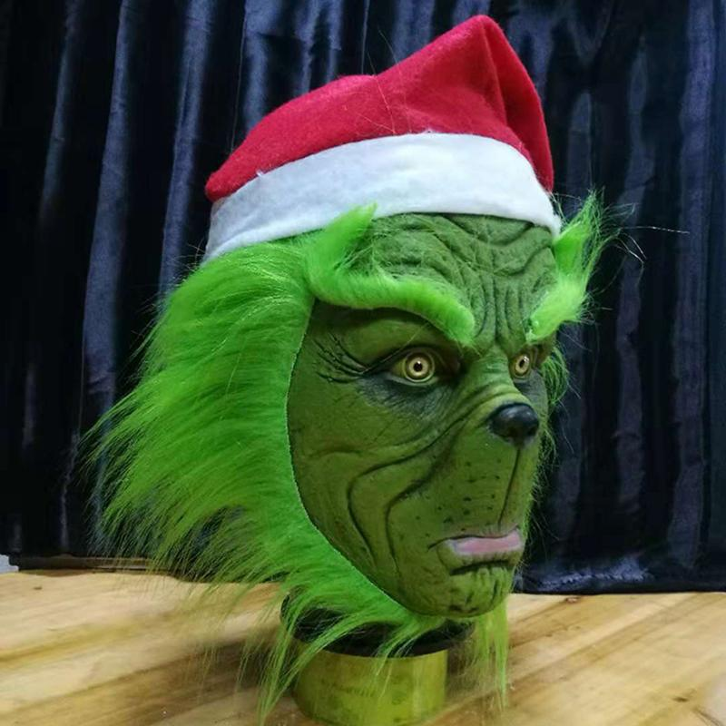 The Grinch Mask for Halloween Cosplay Costume Suit