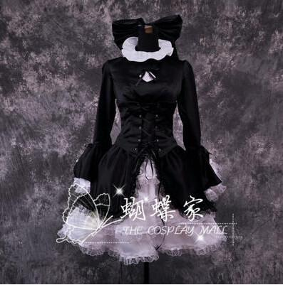 Fate/Hellow Black Saber Cosplay Dress/Costume