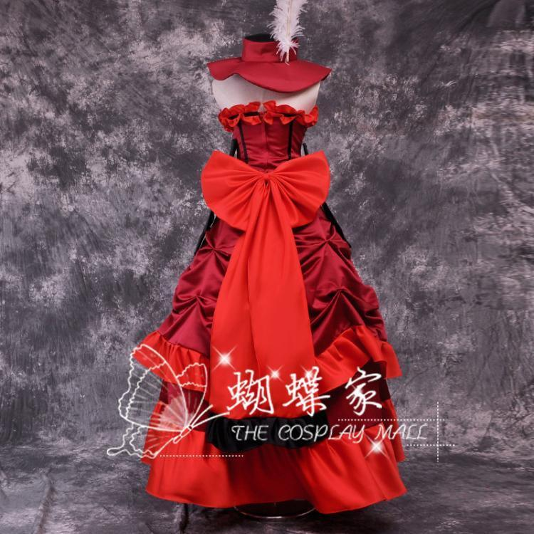 Black Butler Madame Rouge Itsuwari No Utahime Cosplay Dress/Costume