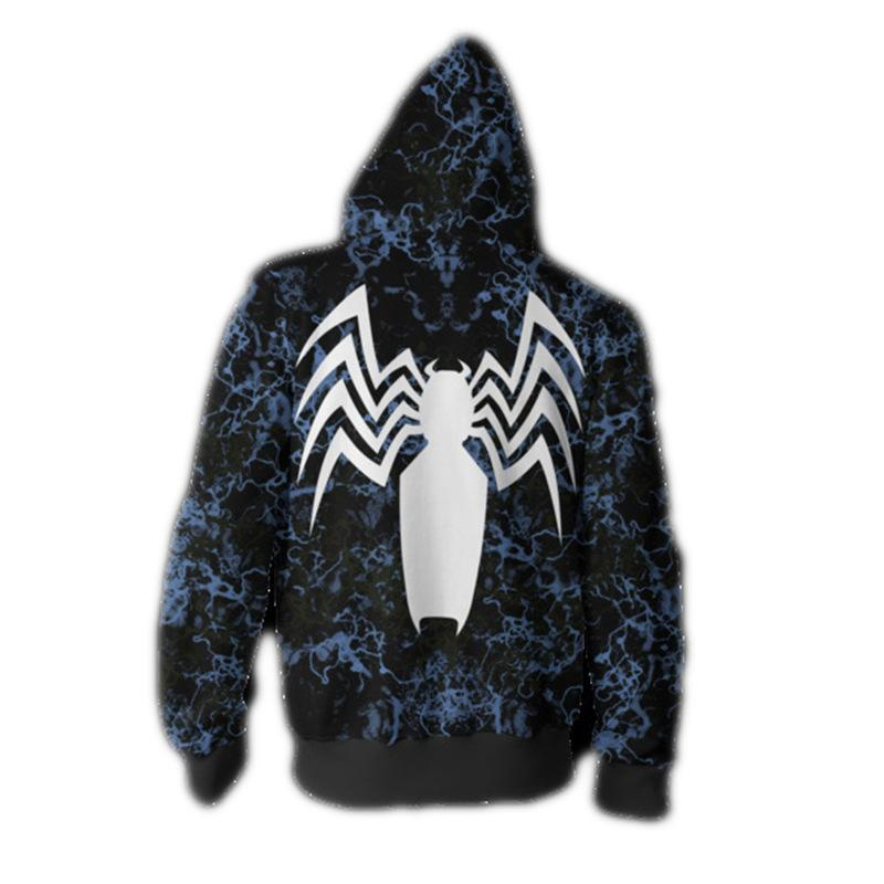 Venom Spider-Man Hoodie Halloween Cosplay Sweatshirt Coat
