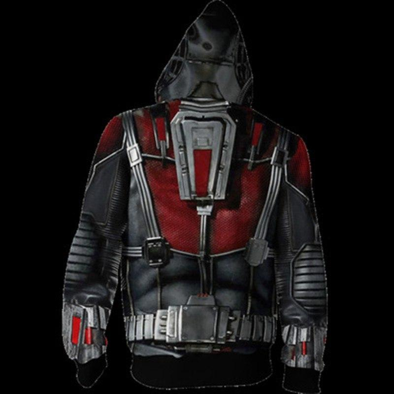 2019 Avengers: Endgame Ant-man Hoodie Hank Pym Cosplay Costume Sweatshirts Jacket Coat