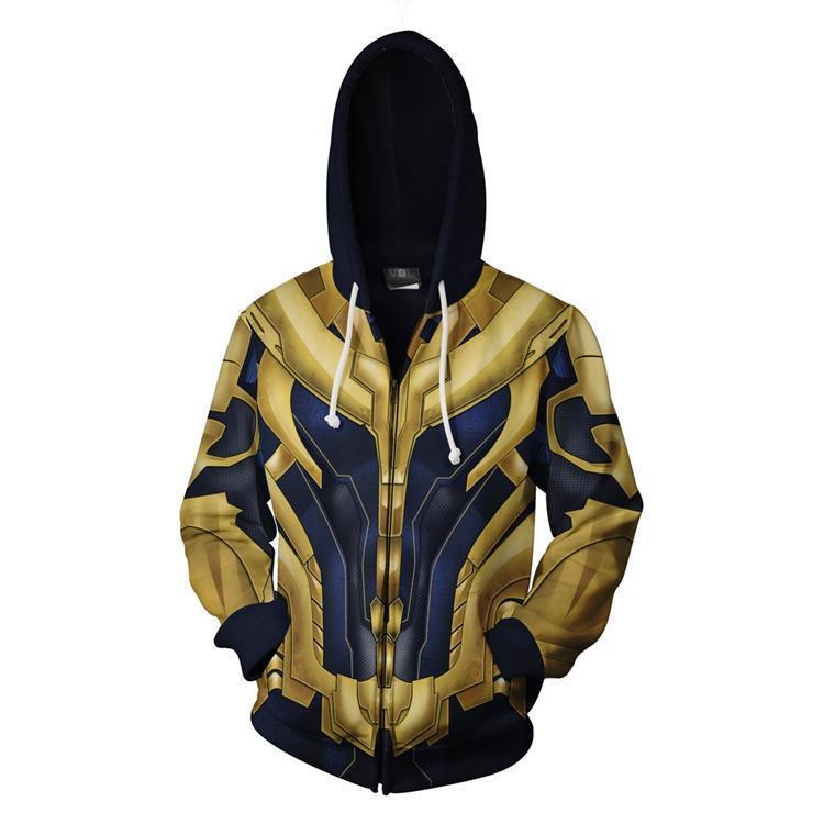 2019 Avengers: Endgame Thanos Hoodie Cosplay Costume Sweatshirts Jacket Coat