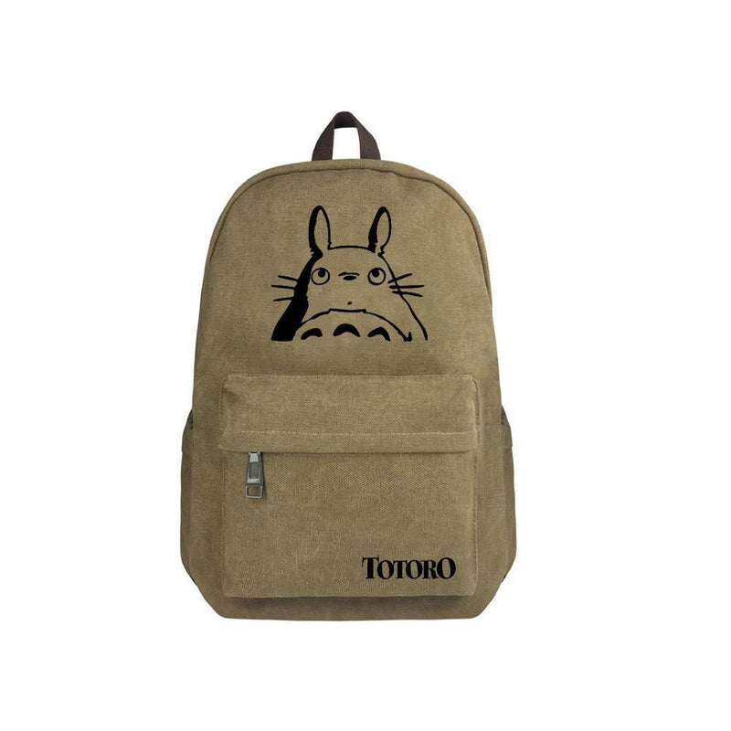 "Japanese Anime Totoro Canvas 17"" Bag Backpack CSSO071"