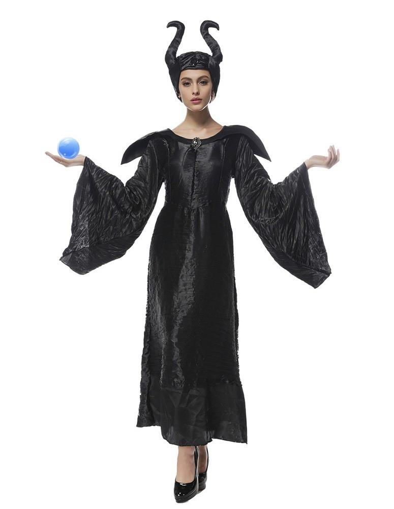 Maleficent Witch Black Womens Halloween Costume