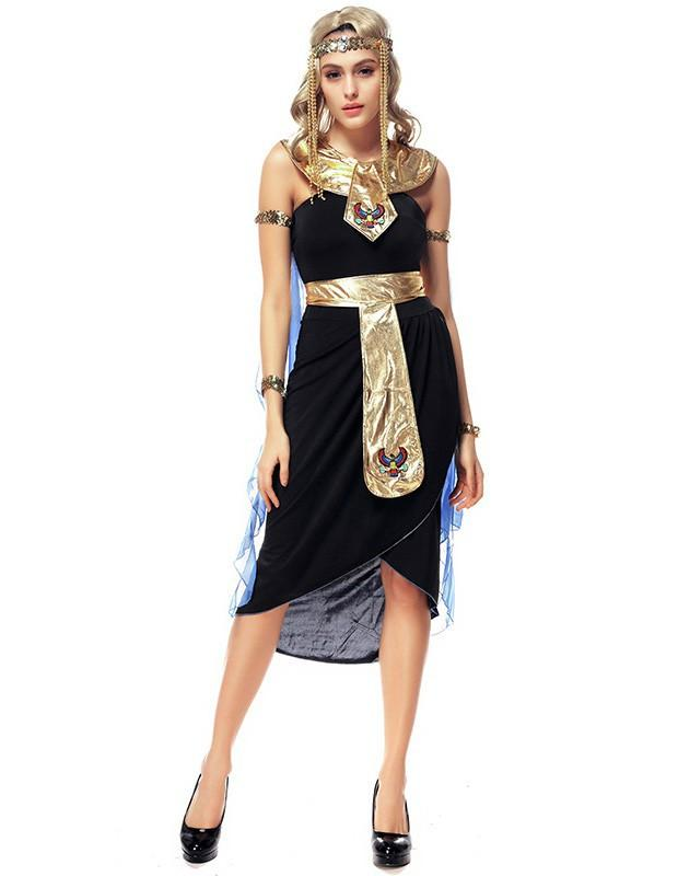 Cleopatra Goddess Fancy Dress Sexy Female Halloween Costume