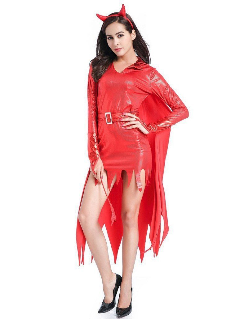 Red Hot Fire Devil Women Adult Halloween Costume
