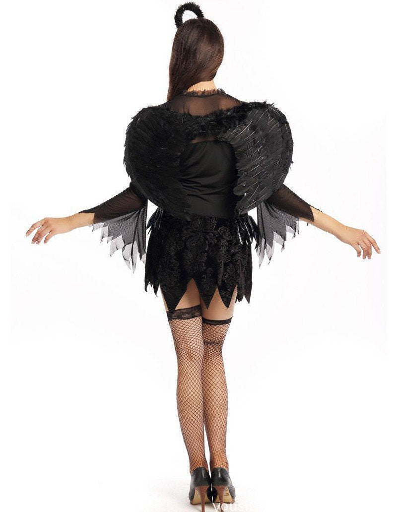 Evil Devil Fallen Angel Female Halloween Costume