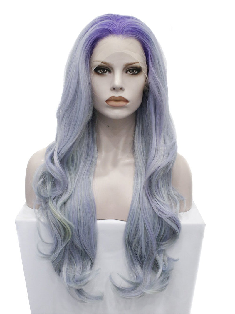 Premium Wig - Ashy Blue Pastel Hair Lace Wig