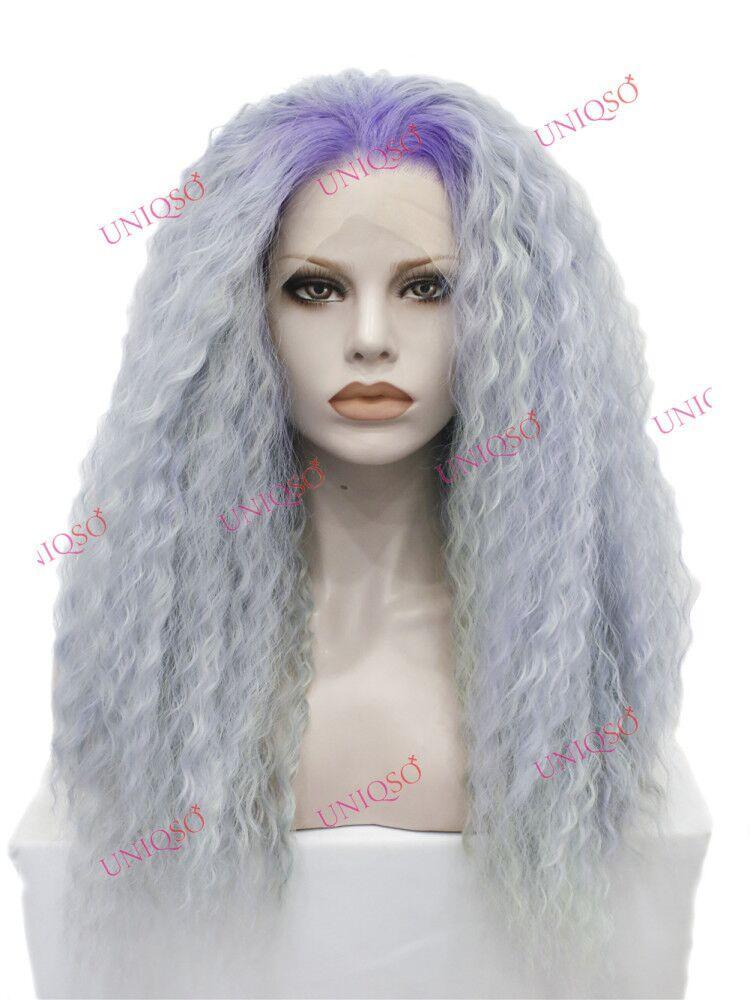 Premium Wig - Deluxe Bomb Silver Lace Front Curly Wig