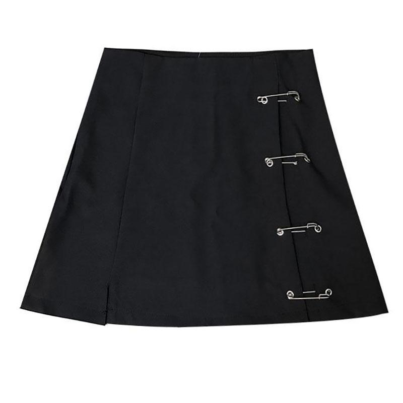 Safety Pin High Waist Skirt SD00335
