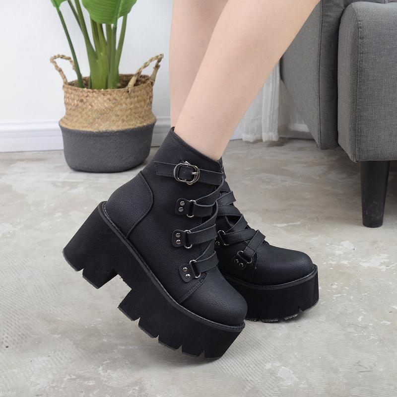 Harajuku Strap Punk Boots shoes SD00072