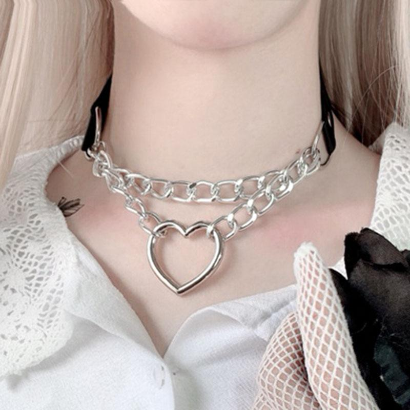 Heart Shape Chained Collar SD01273