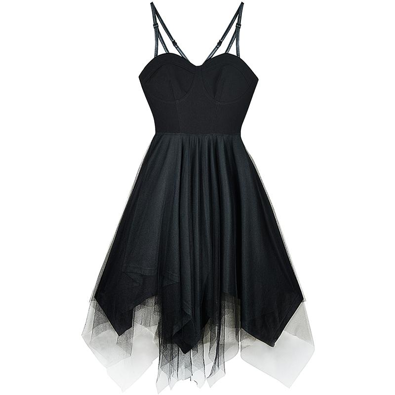 Black Fairy Mesh Dress SD01294