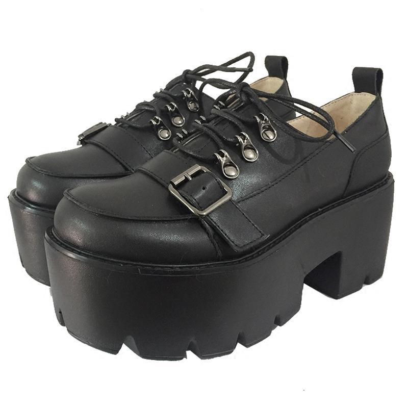 Punk Strap Belt Heavy Platform Shoes SD01715