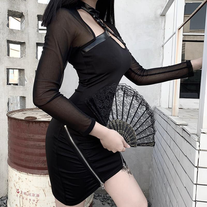 Mesh Strap Slim Dress SD01910