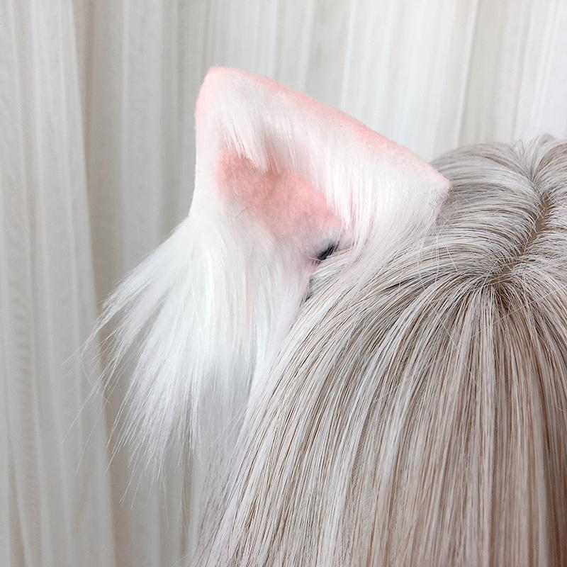 5 Colors Kawaii Plush Cat Ears Hair Clip