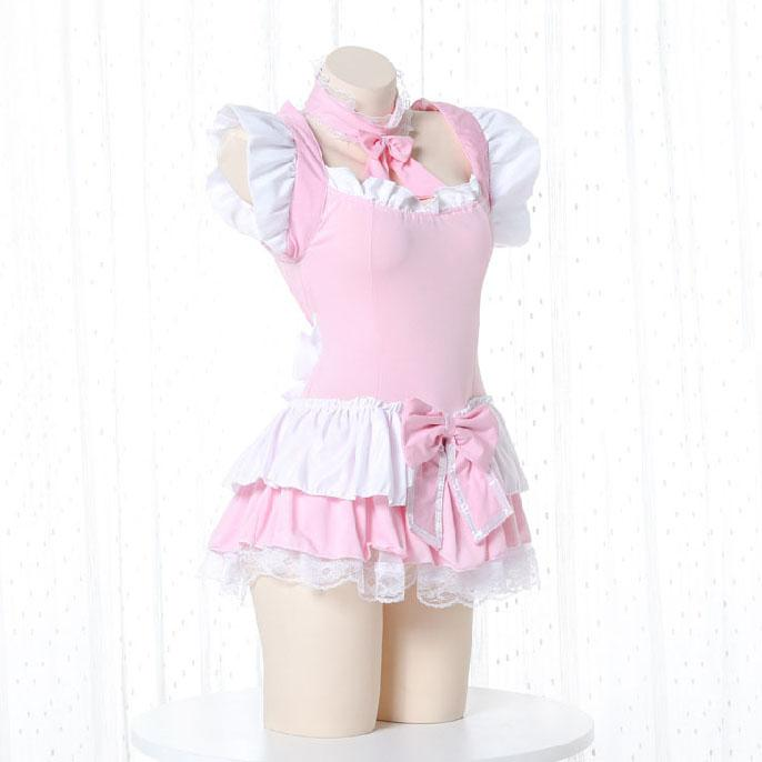 Pink Ruffle Maid Dress SD00280
