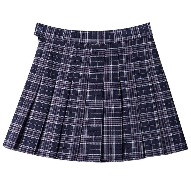 Pleated School Plaid Skirt SD01503