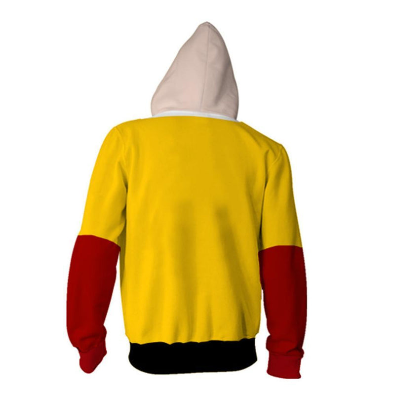 One Punch Man Hoodies - Japanese Anime Zip Up Hooded Sweatshirt CSSO047