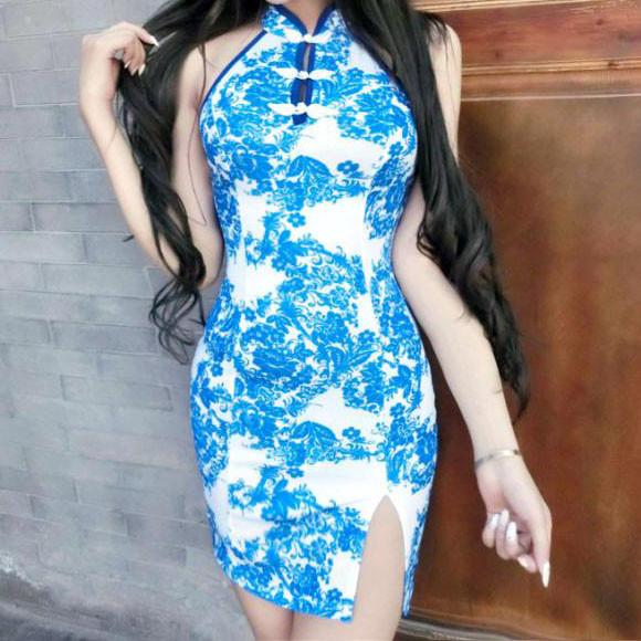 Blue Sea Cheongsam Dress SD02480