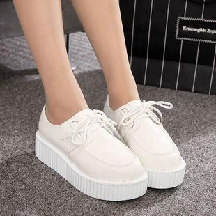 White Platform Creepers Shoes SD00166